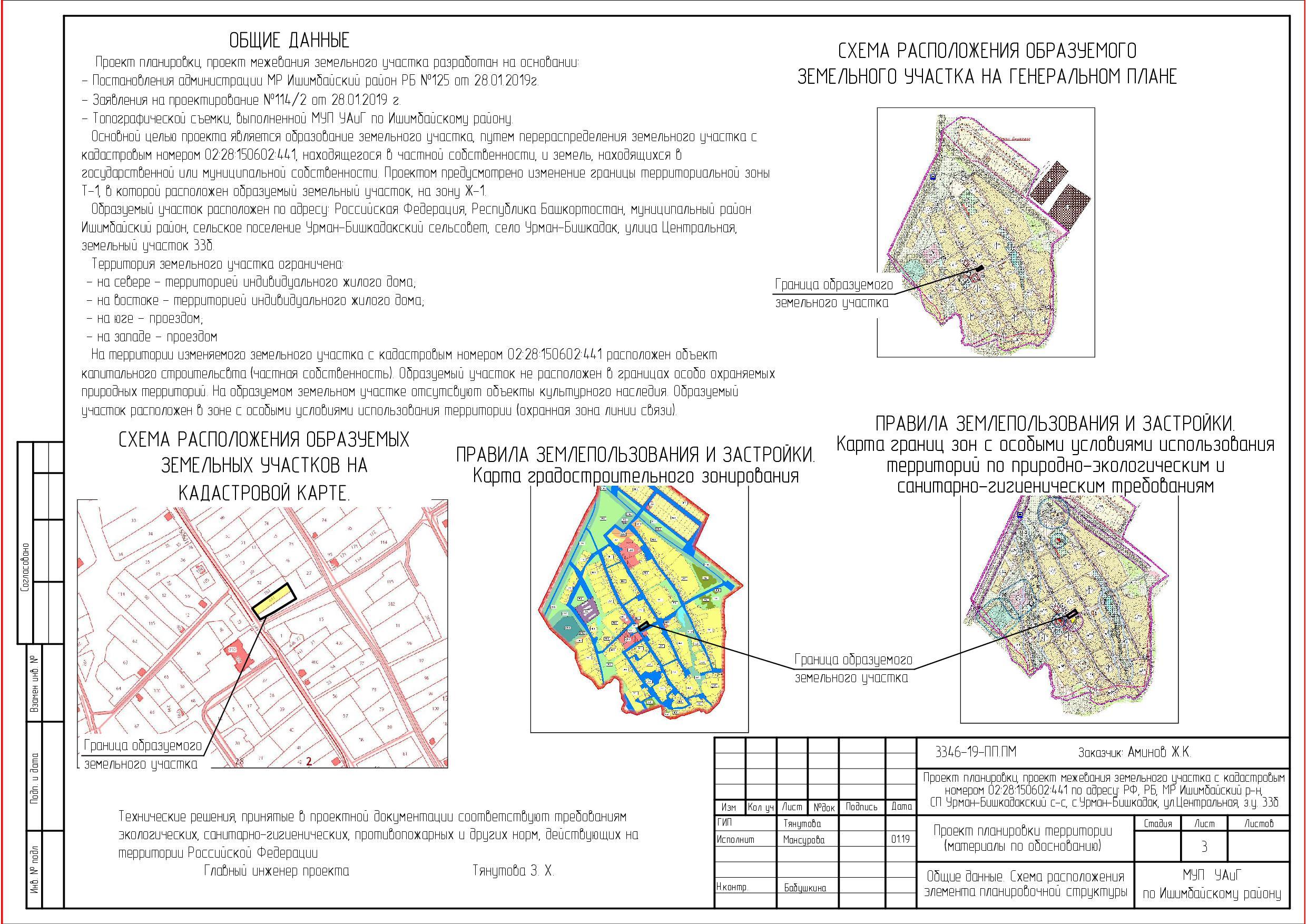 программа раздела земельного участка Сенаторов, видимо